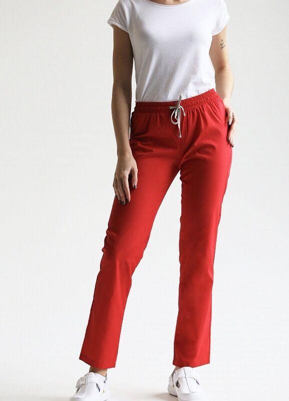 Доктор Стиль Медицинские брюки женские «Комфорт» красные Брю 3401.16 - фото 3