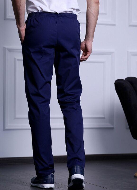 Доктор Стиль Медицинские брюки мужские «Комфорт» темно-синие Брю 3408.19 - фото 3