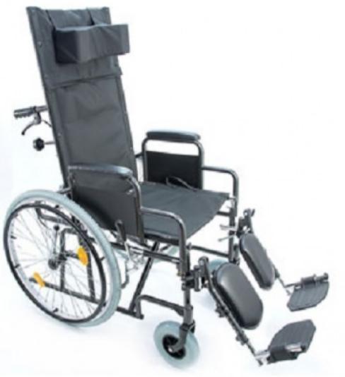 Прокат медицинских товаров Мега-Оптим Инвалидная коляска с высокой спинкой FS514A - фото 1