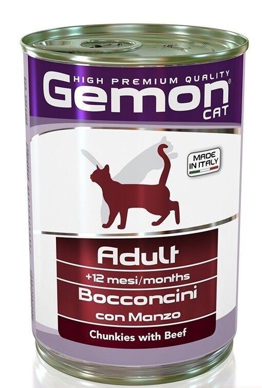 Gemon Cat Adult Beef 415 гр. х 12 шт. - фото 1