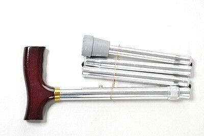 Valentine I. LTD Телескопическая складная трость с Т-образной деревянной ручкой - фото 1