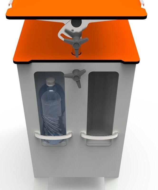 Айболит-2000 Тумба медицинская прикроватная ТМП-02.6 (обновленная версия модели) оранж - фото 3