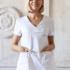 Доктор Стиль Медицинская блуза «Альфа» белая ЛУ 1230.01 - фото 1